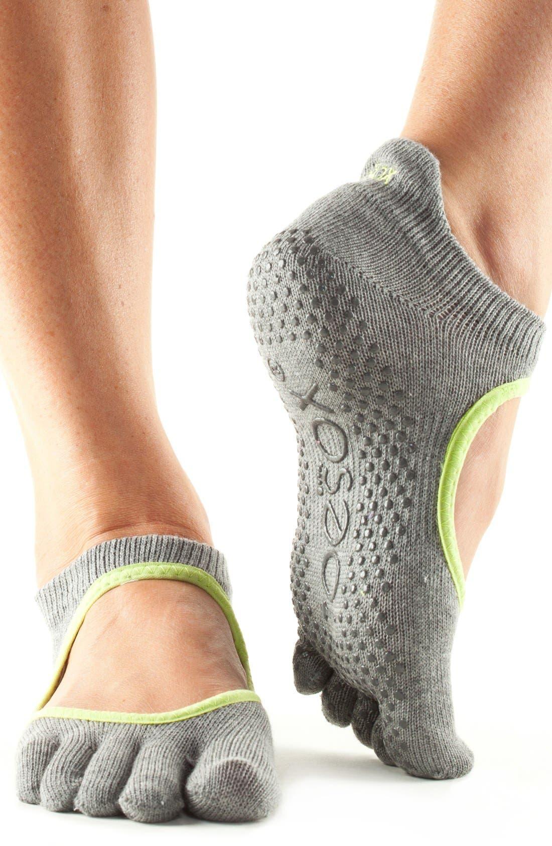 Alternate Image 1 Selected - ToeSox Bellarina Full Toe Gripper Socks