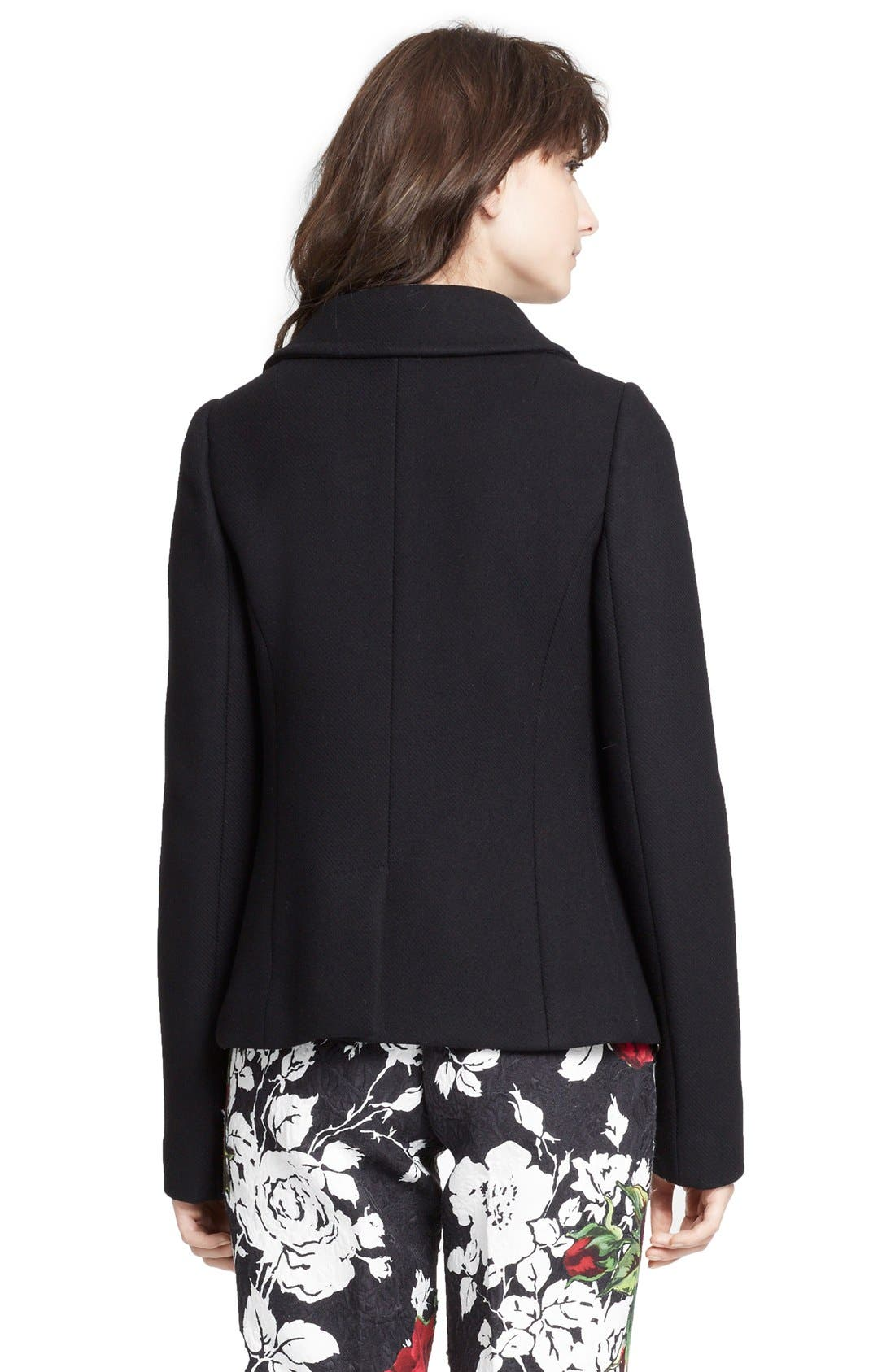Alternate Image 2  - Dolce&Gabbana Short Double Breasted Wool Blend Peacoat