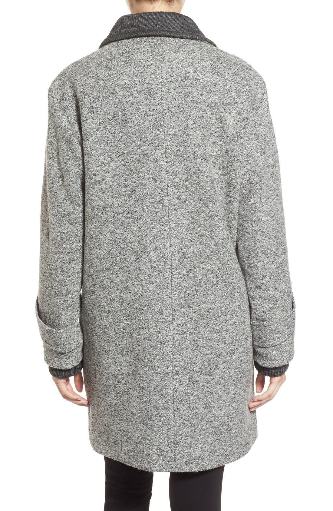 Alternate Image 2  - French Connection Tweed Boyfriend Coat