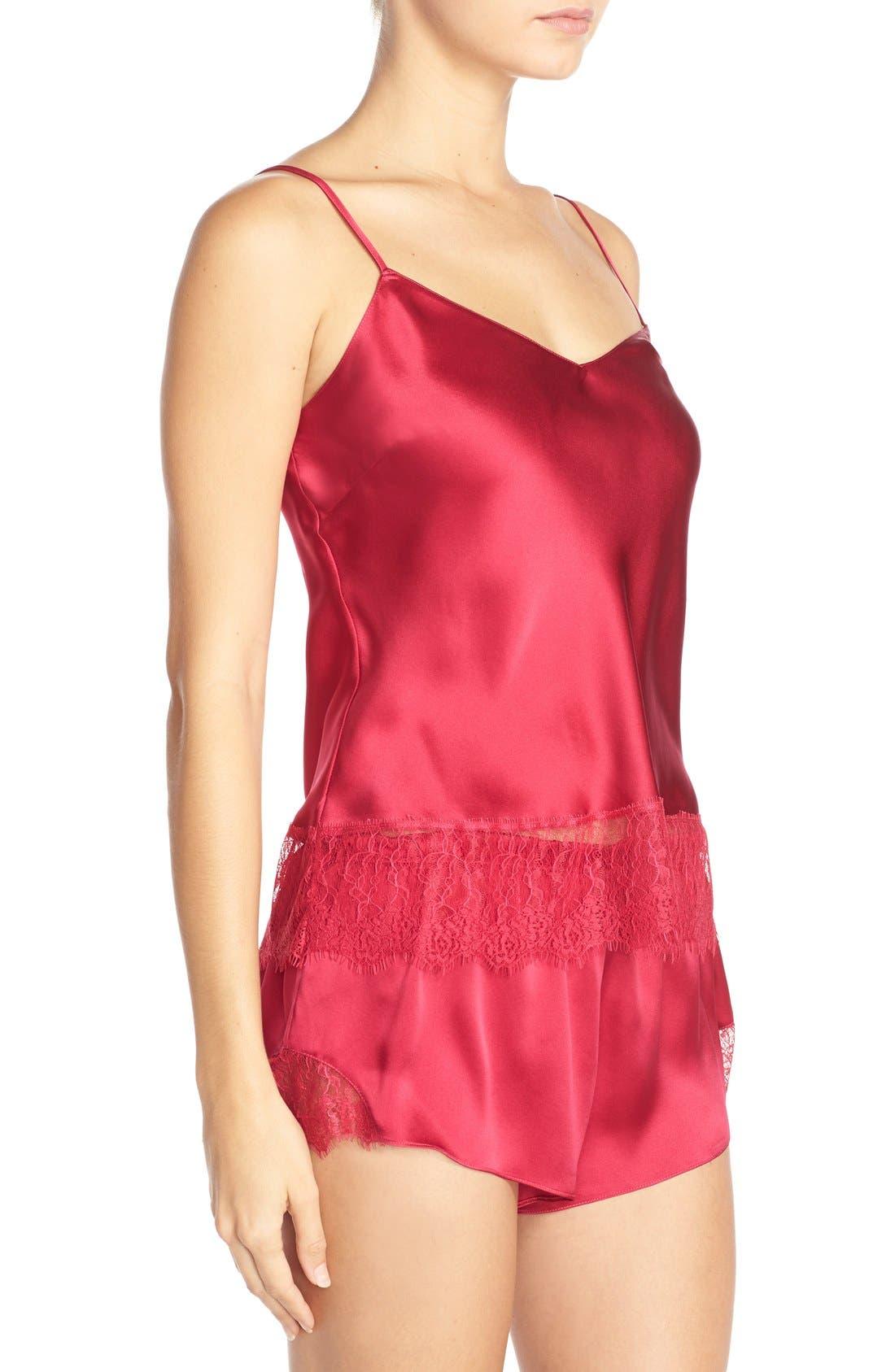 Alternate Image 3  - Nordstrom Lingerie Short Silk Pajamas