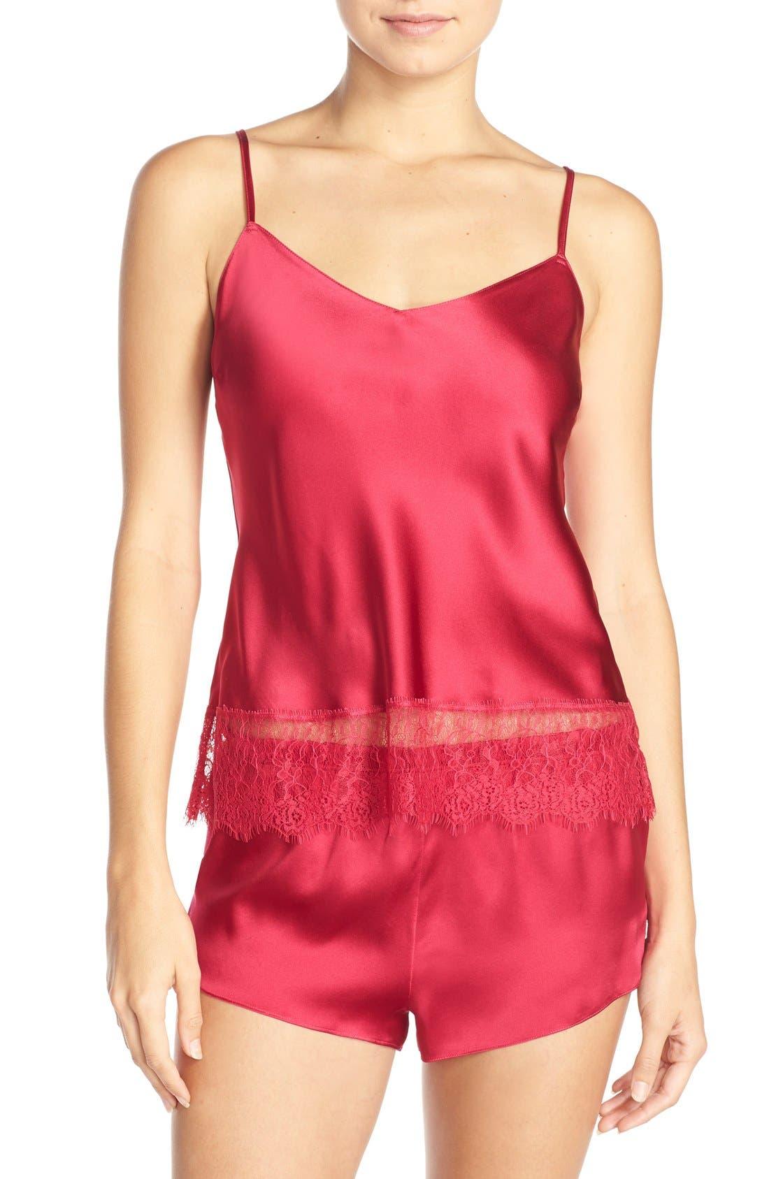 Alternate Image 1 Selected - Nordstrom Lingerie Short Silk Pajamas