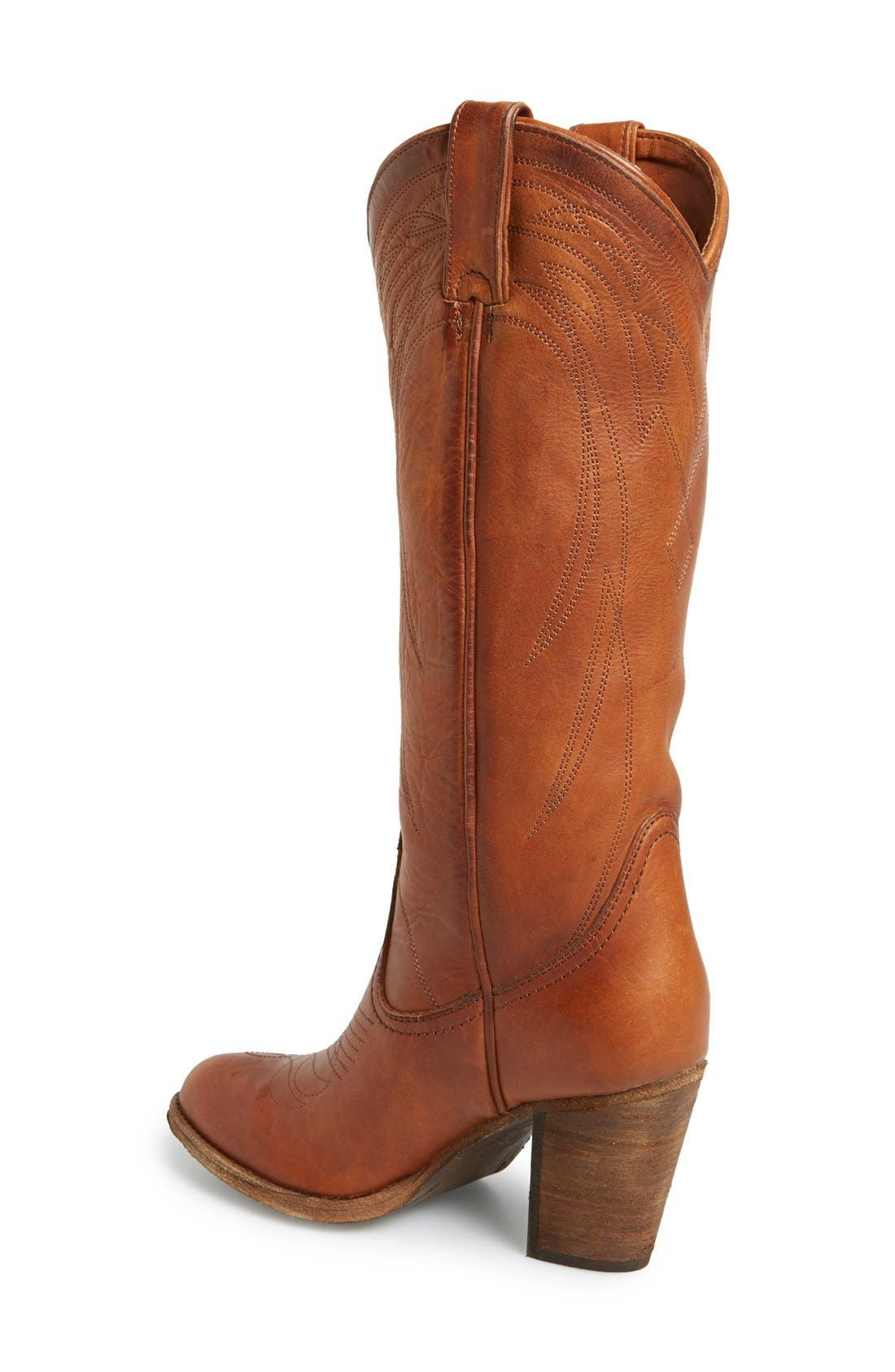 Alternate Image 2  - Frye 'Ilana' Embroidered Leather Western Boot (Women)