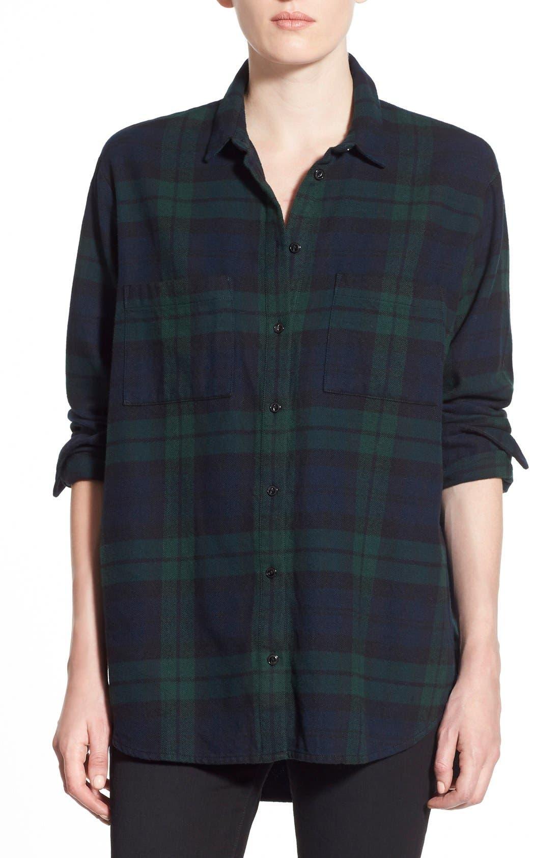 Alternate Image 1 Selected - Madewell Plaid Oversize Cotton Shirt