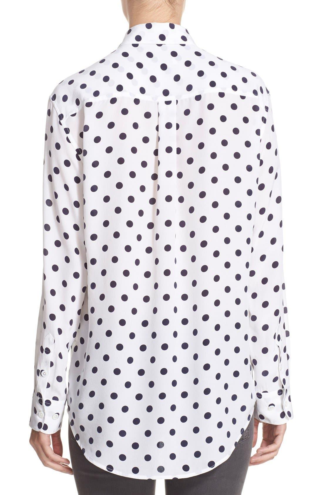 Alternate Image 2  - Equipment 'Signature' Polka Dot Silk Shirt