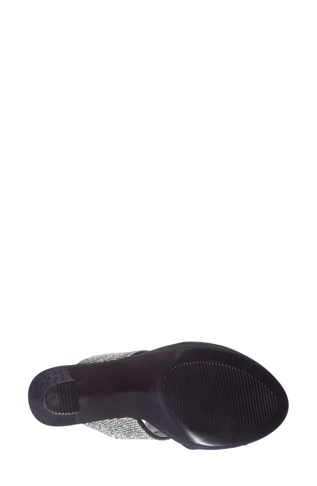 Alternate Image 4  - Love and Liberty 'Dakota' Crystal Embellished Double Band Sandal (Women)