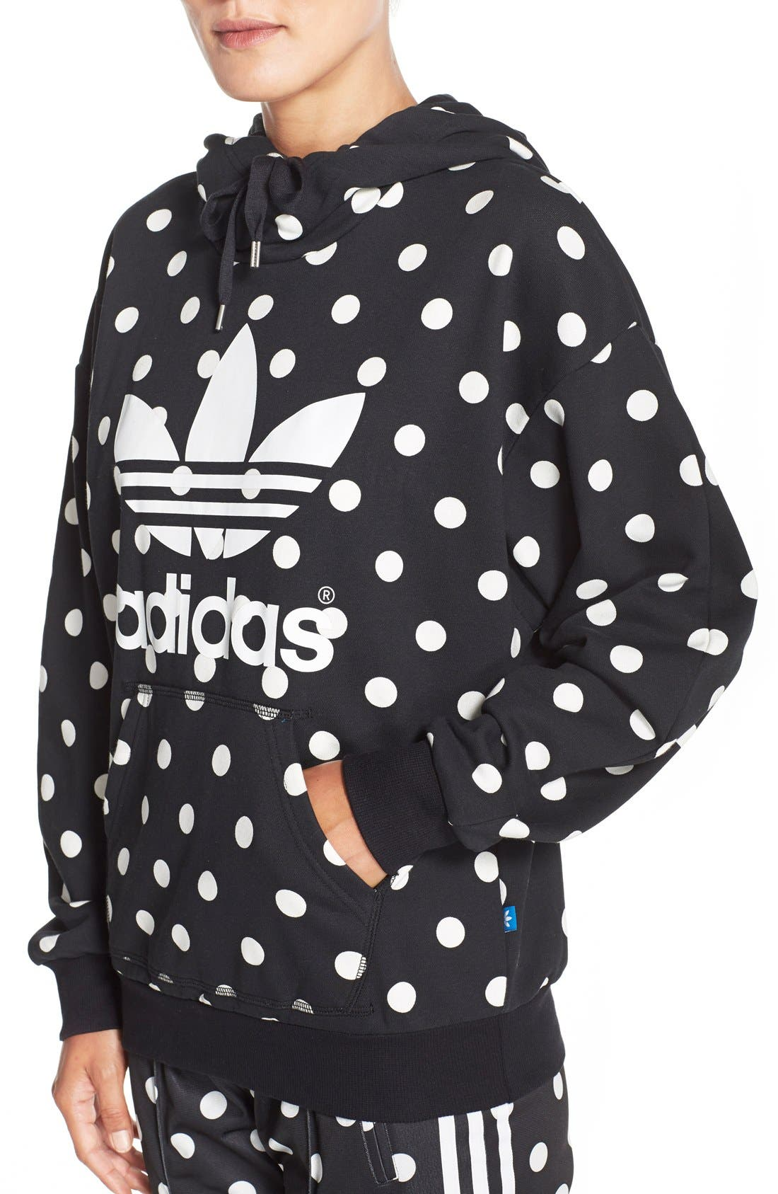 Alternate Image 4  - adidas Originals 'Dots All Over' Print Hoodie