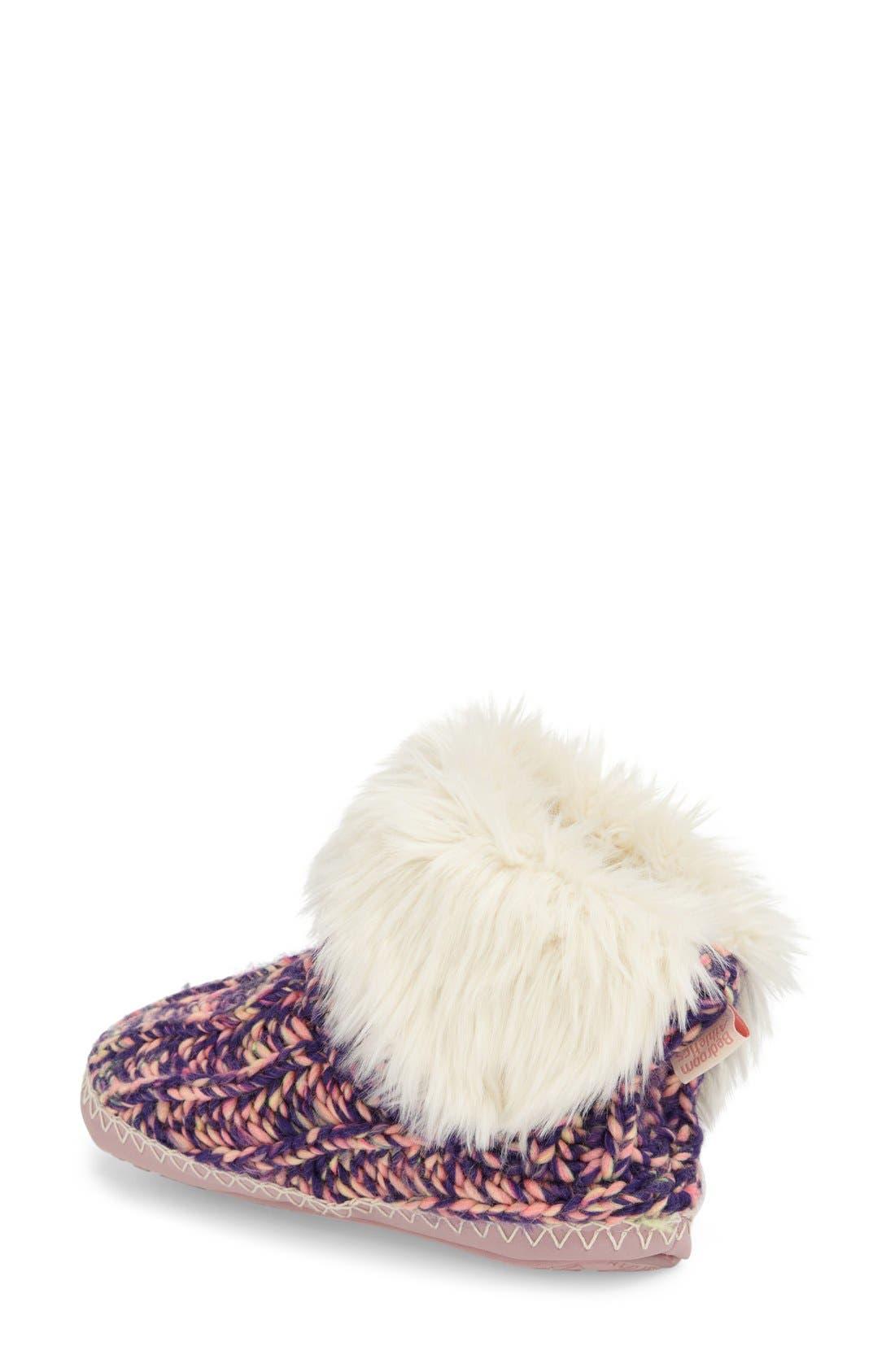 Alternate Image 2  - Bedroom Athletics 'Toni' Faux Fur Knit Slipper Bootie (Women)
