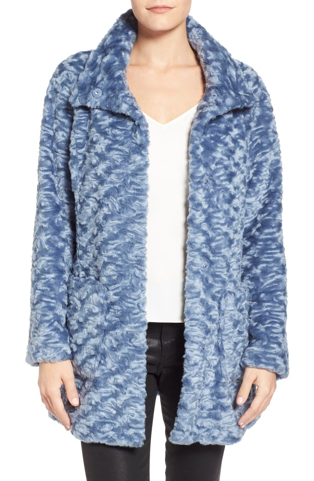 Alternate Image 1 Selected - Eliza J Collared Faux Fur Coat