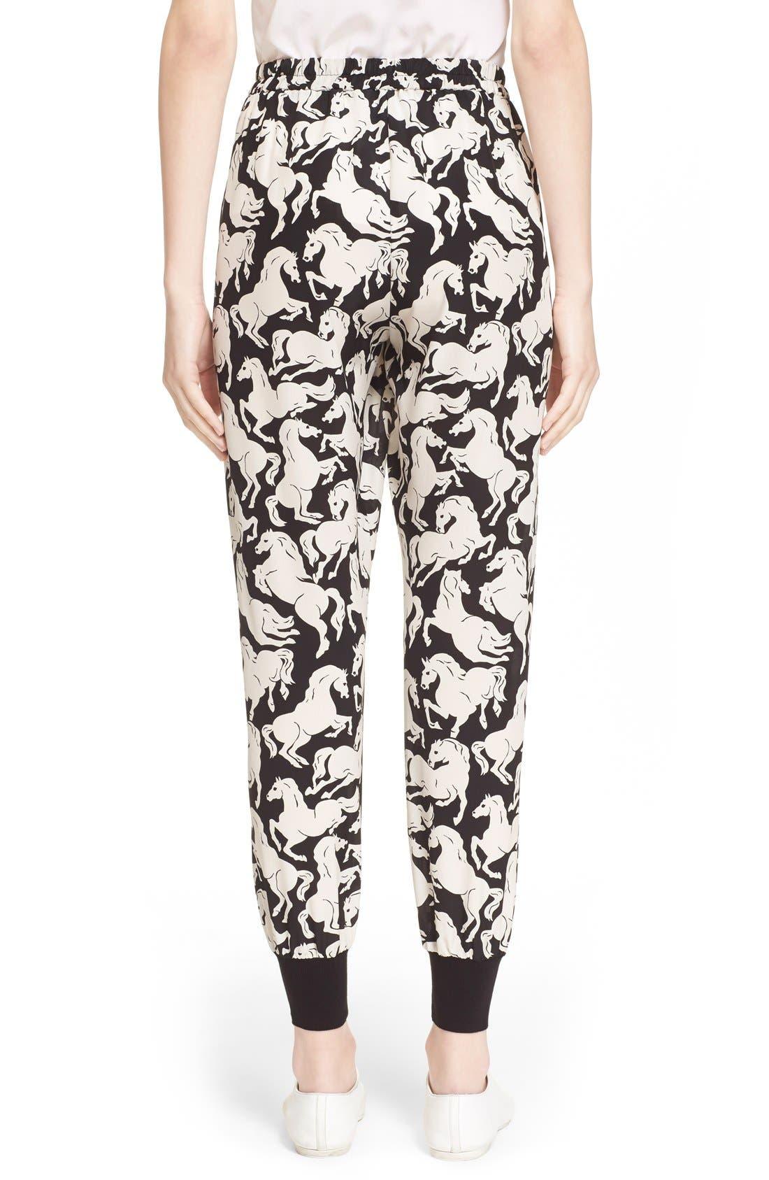 Alternate Image 2  - Stella McCartney 'Joey' Horse Print Silk Pants