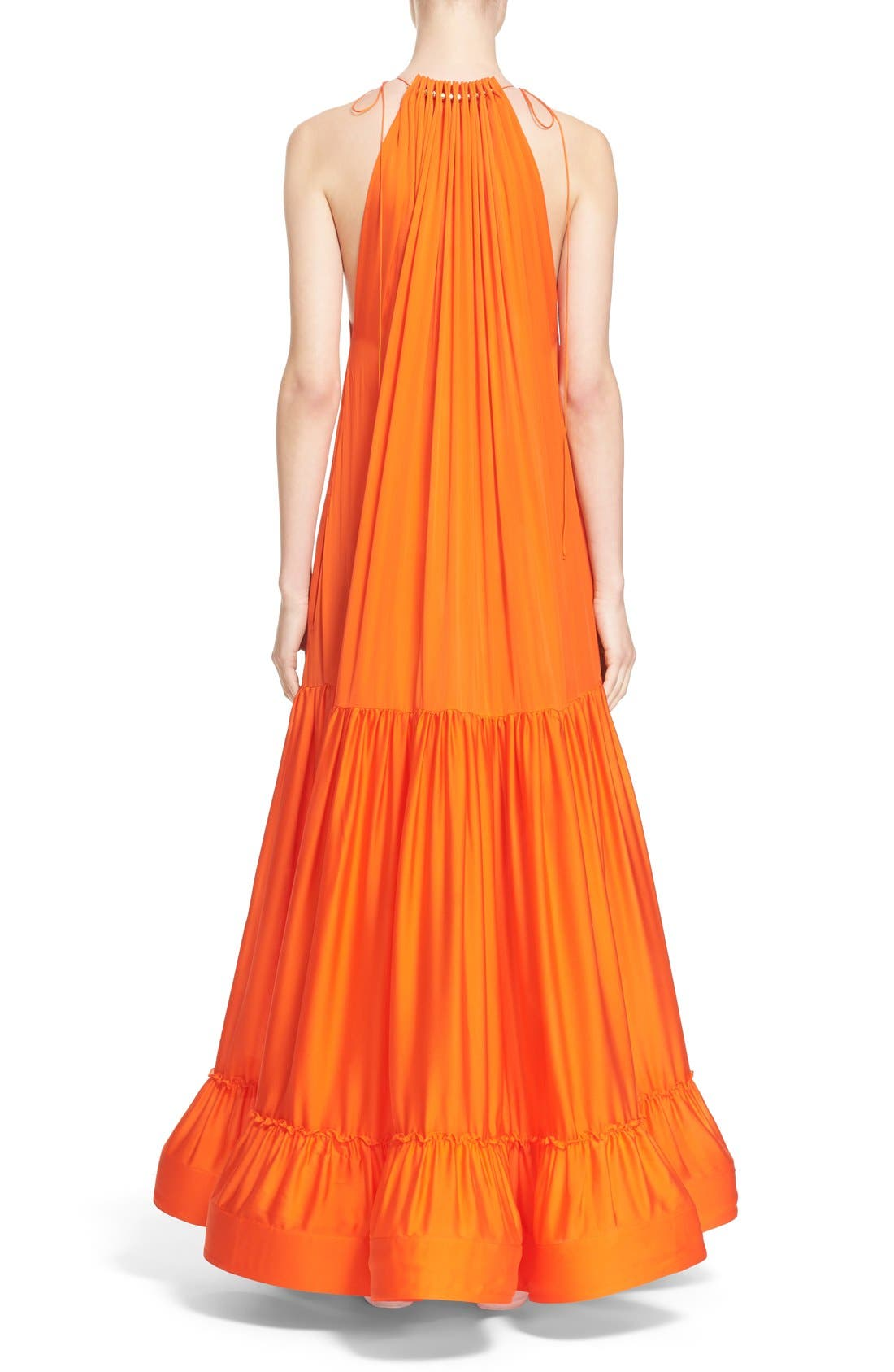 Alternate Image 2  - Stella McCartney High Neck Silk Parachute Gown