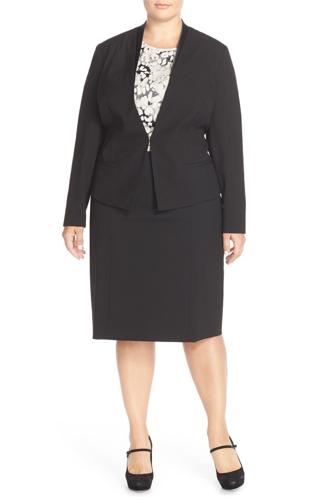 Alternate Image 4  - Sejour 'Ela' Pencil Skirt (Plus Size)
