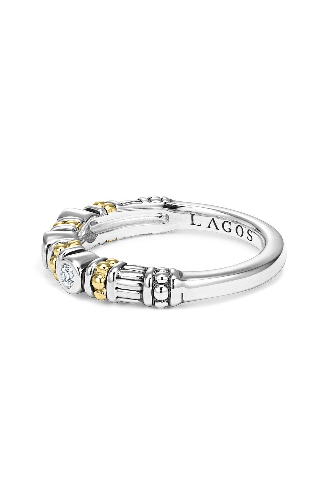 Alternate Image 3  - LAGOS Three Diamond Stacking Ring