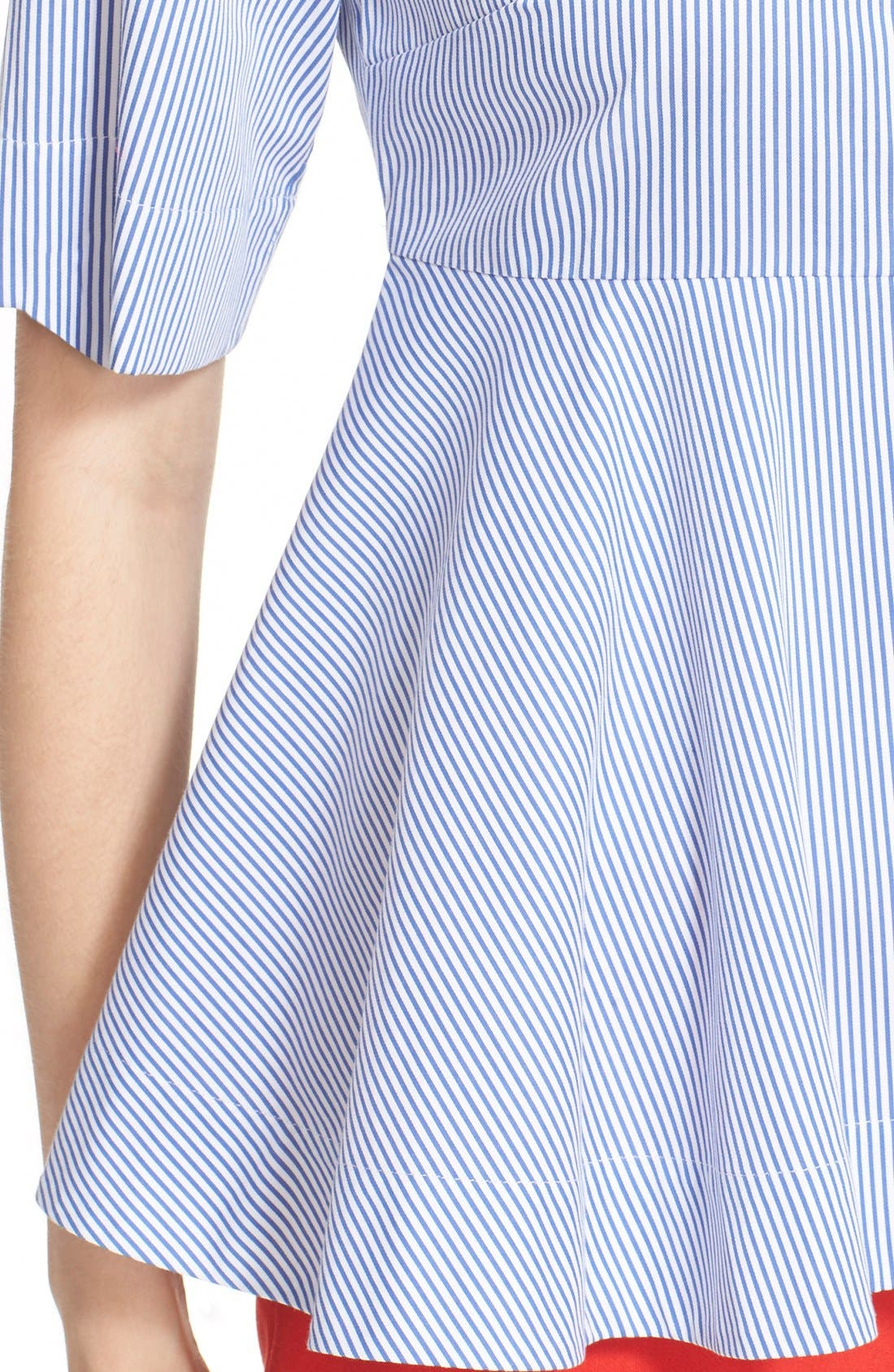 Alternate Image 4  - kate spade new york stripe peplum shirt