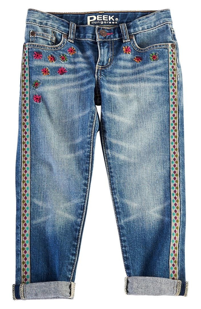 Peek greta embroidered relaxed fit jeans toddler girls