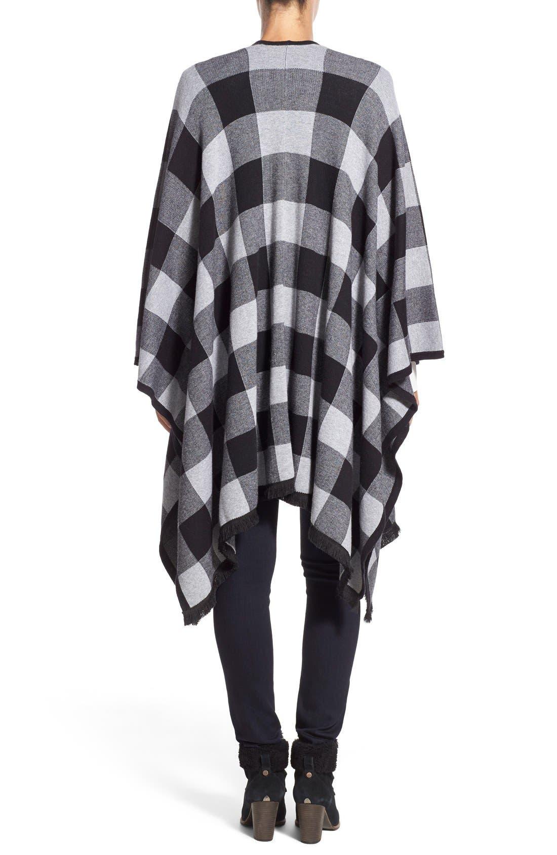 Alternate Image 2  - kensie Check Plaid Blanket Cardigan