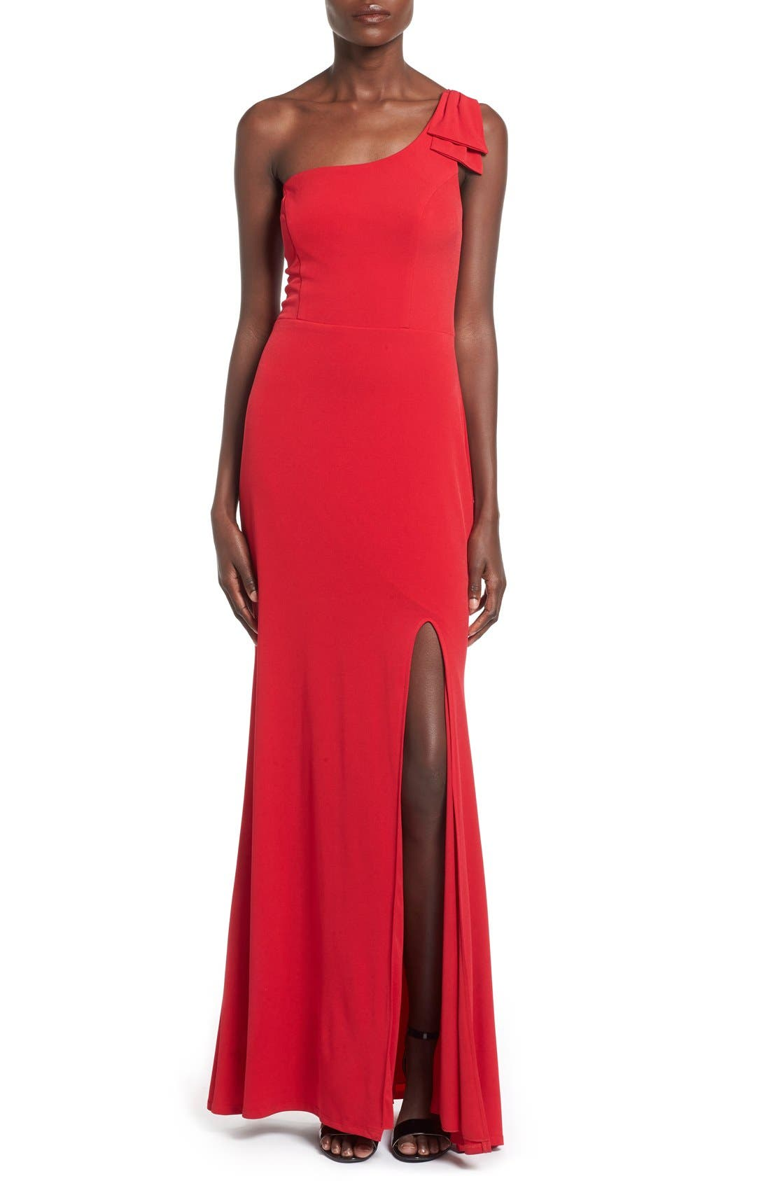 Main Image - Way-In 'Kelly' One-Shoulder Gown