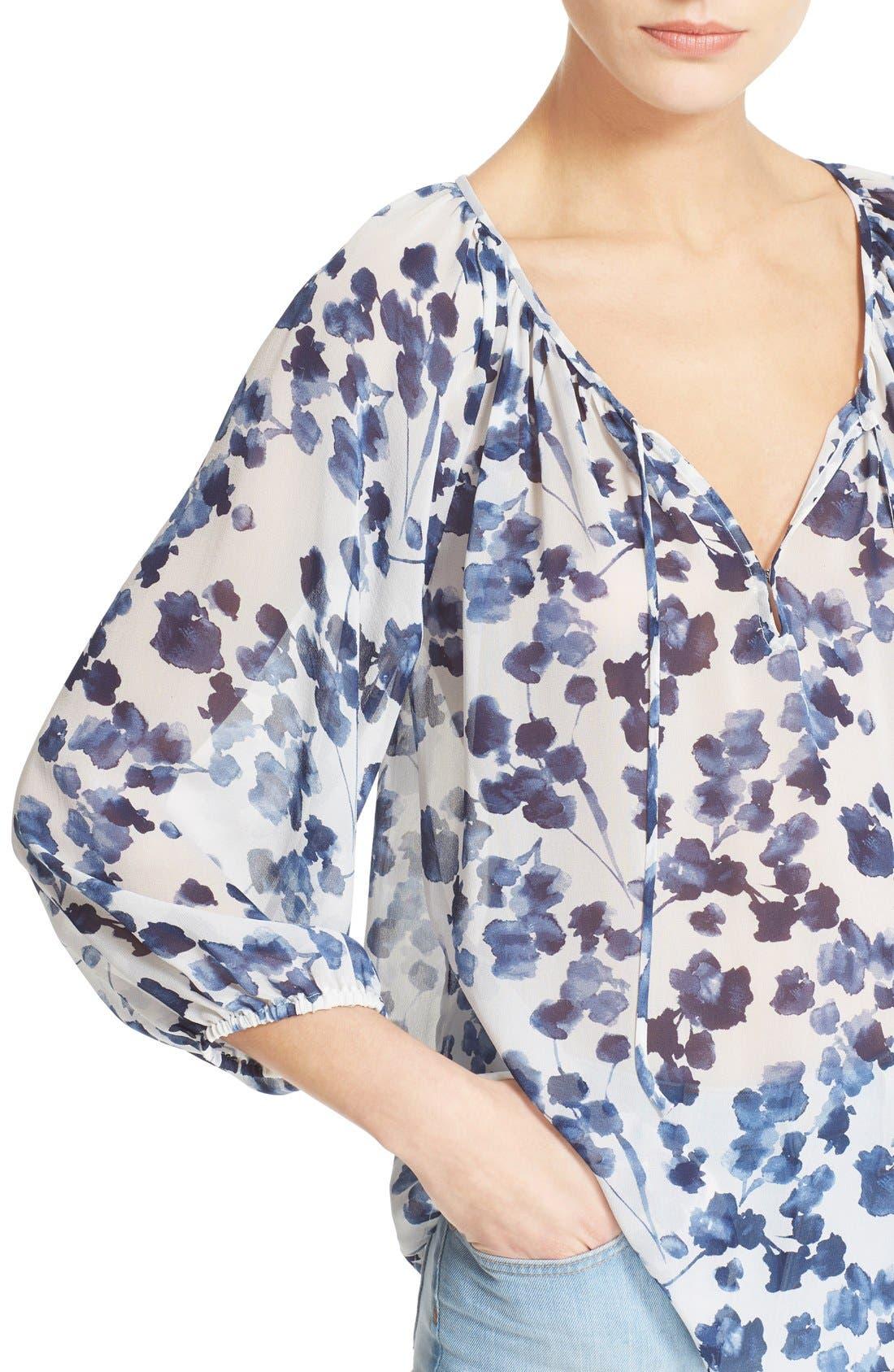 Alternate Image 4  - Joie 'Roachan' Floral Print Blouse (Nordstrom Exclusive)