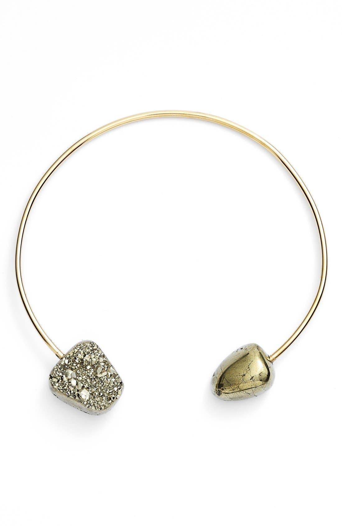 Alternate Image 1 Selected - Seraphine Design Pyrite & Semiprecious Stone Collar Necklace