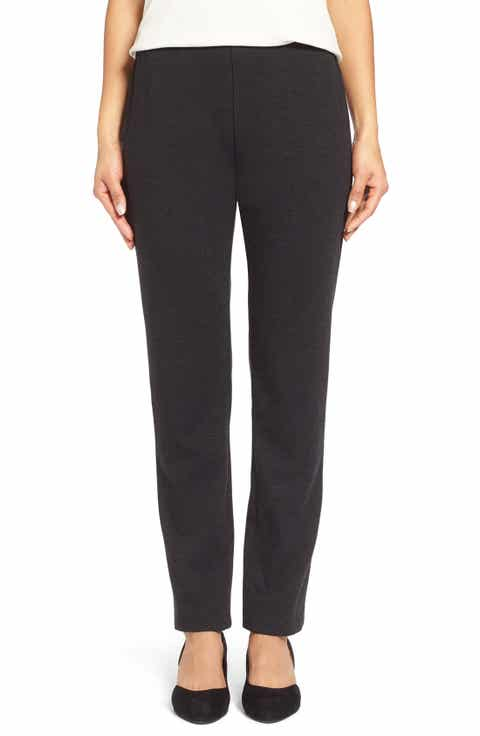 Eileen Fisher Skinny Ponte Pants (Regular   Petite)