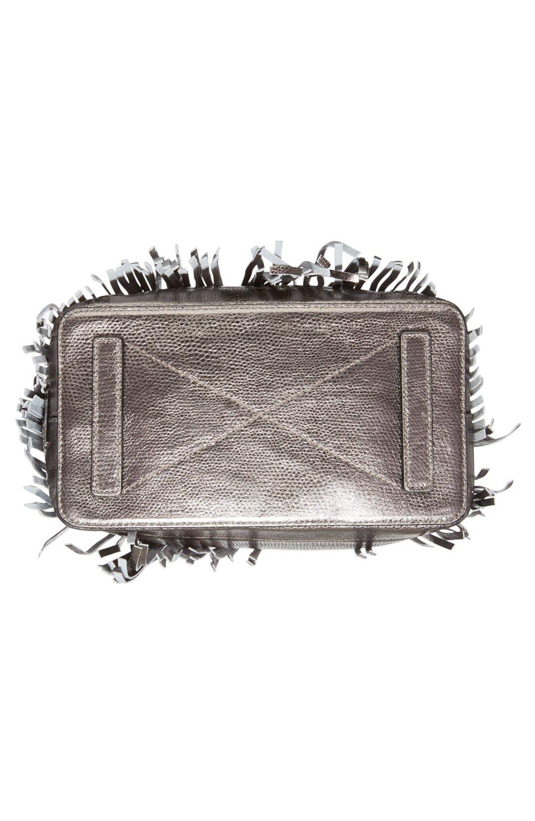 Alternate Image 6  - Milly 'Large' Metallic Leather Fringe Bucket Bag