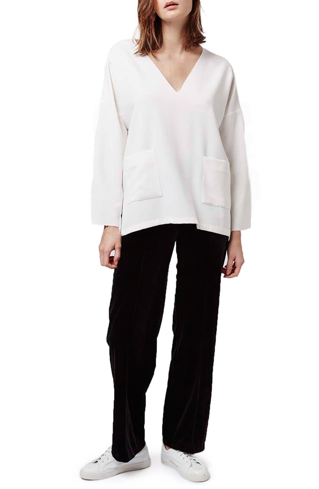 Alternate Image 2  - Topshop Oversize V-Neck Sweater