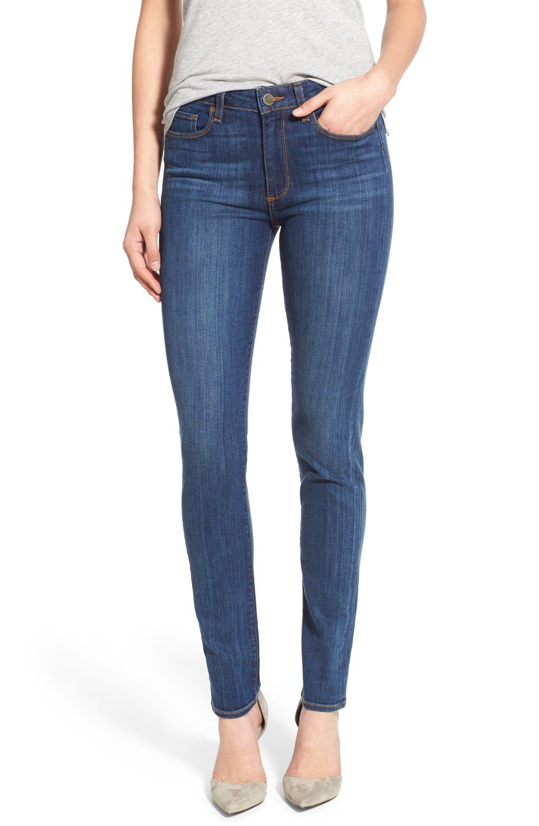 Alternate Image 1 Selected - Paige Denim 'Hoxton' High Rise Skinny Jeans (Arya)