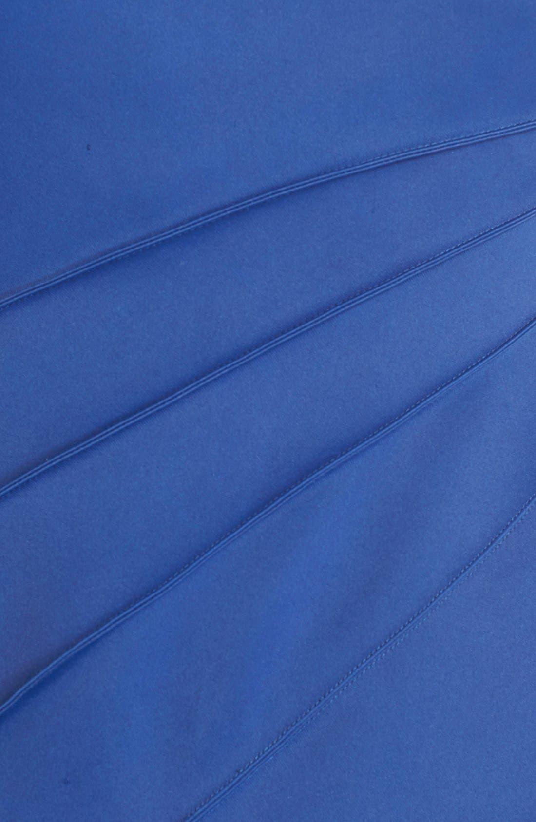 Alternate Image 6  - Halston Heritage Asymmetrical Satin & Voile A-Line Gown