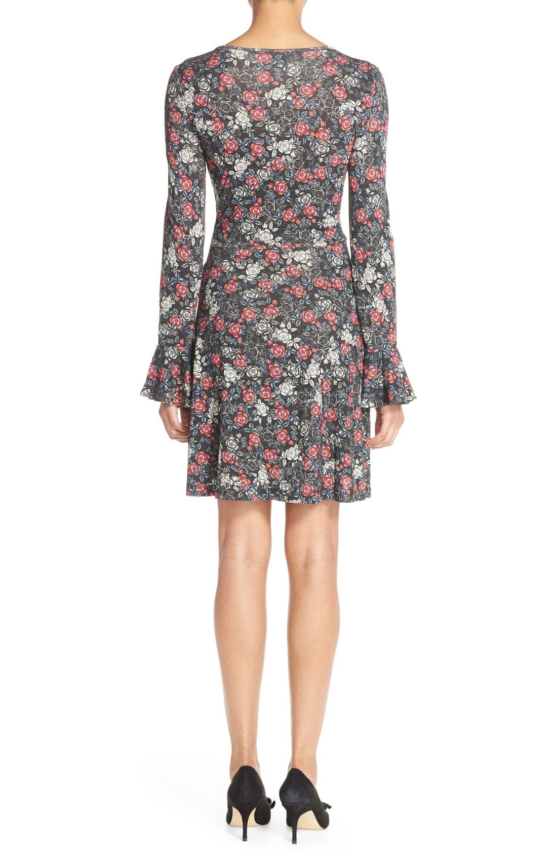 Alternate Image 2  - French Connection Floral Print Jersey A-Line Dress