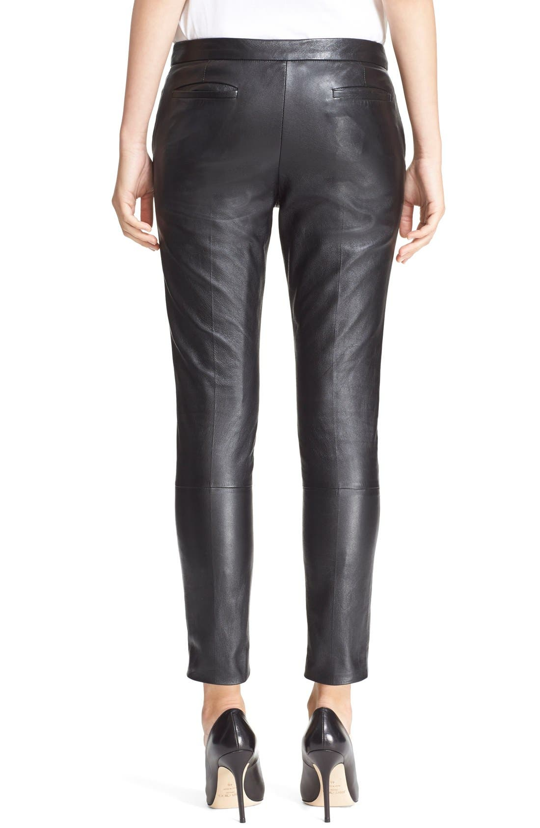 Alternate Image 3  - RED Valentino Leather Trousers