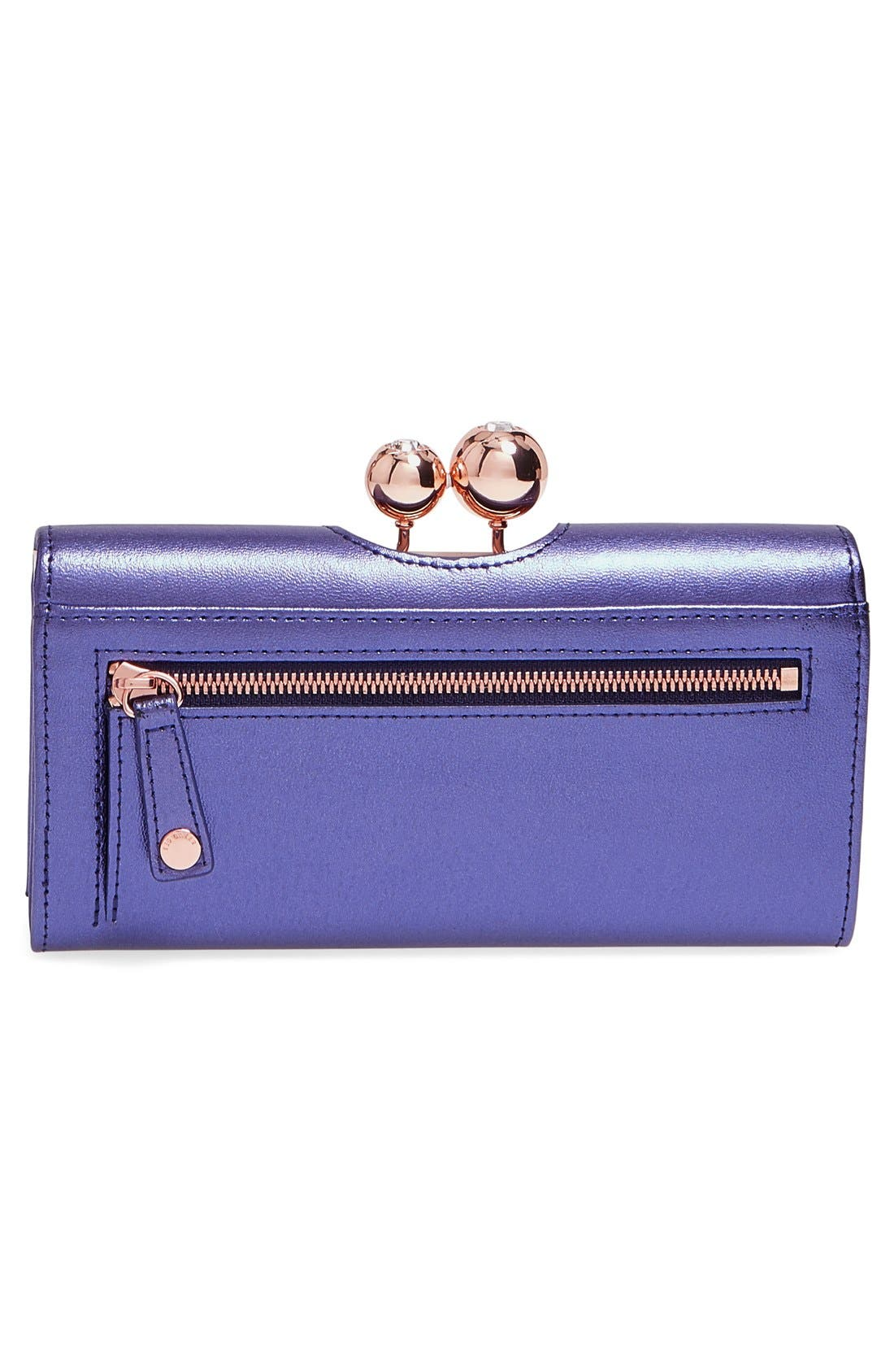 Alternate Image 3  - Ted Baker London Metallic Leather Matinee Wallet