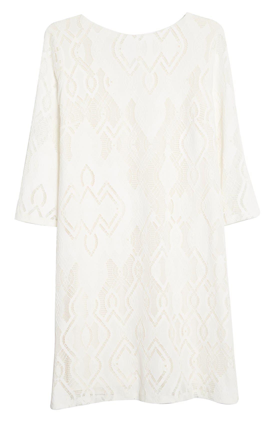 Alternate Image 4  - Fuzzi Lace Shift Dress