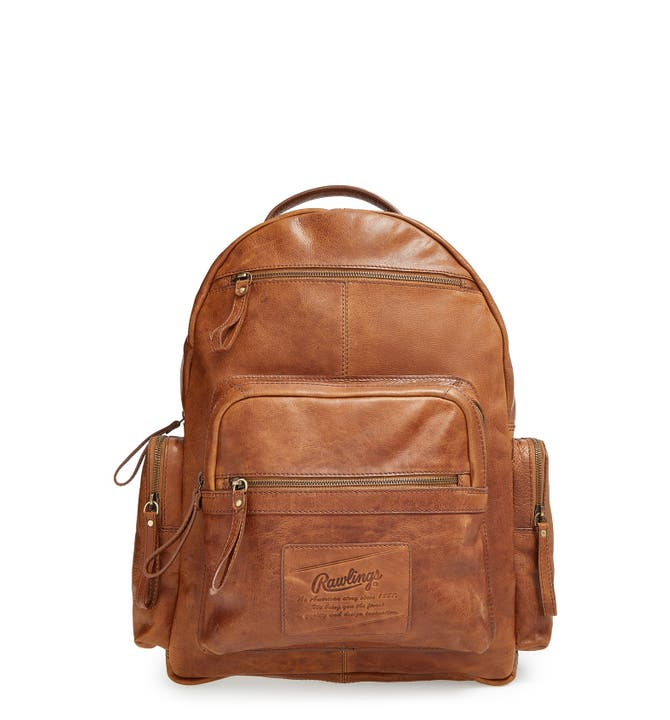 Rawlings® 'Rugged' Leather Backpack | Nordstrom