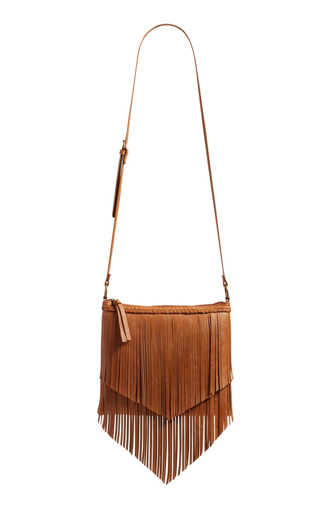 Main Image - BP. Layered Fringe Crossbody Bag