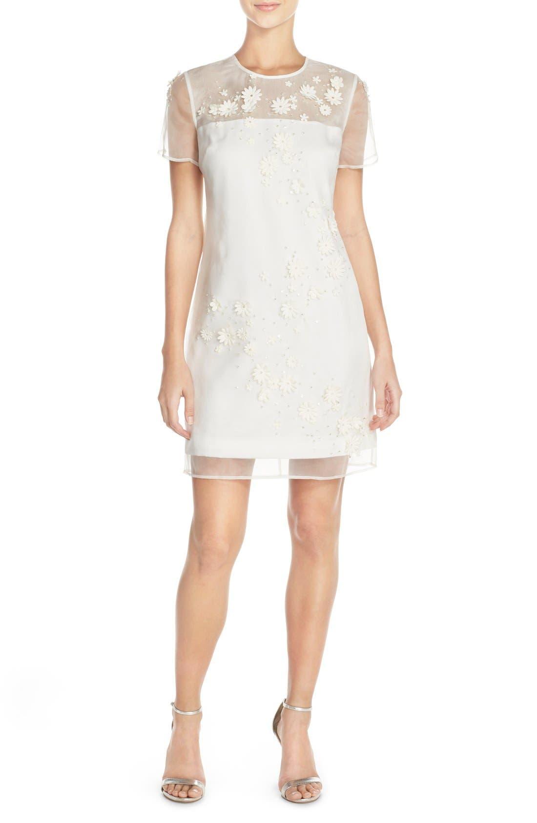 TED BAKER LONDON 'Findon' Embellished Silk Organza Dress