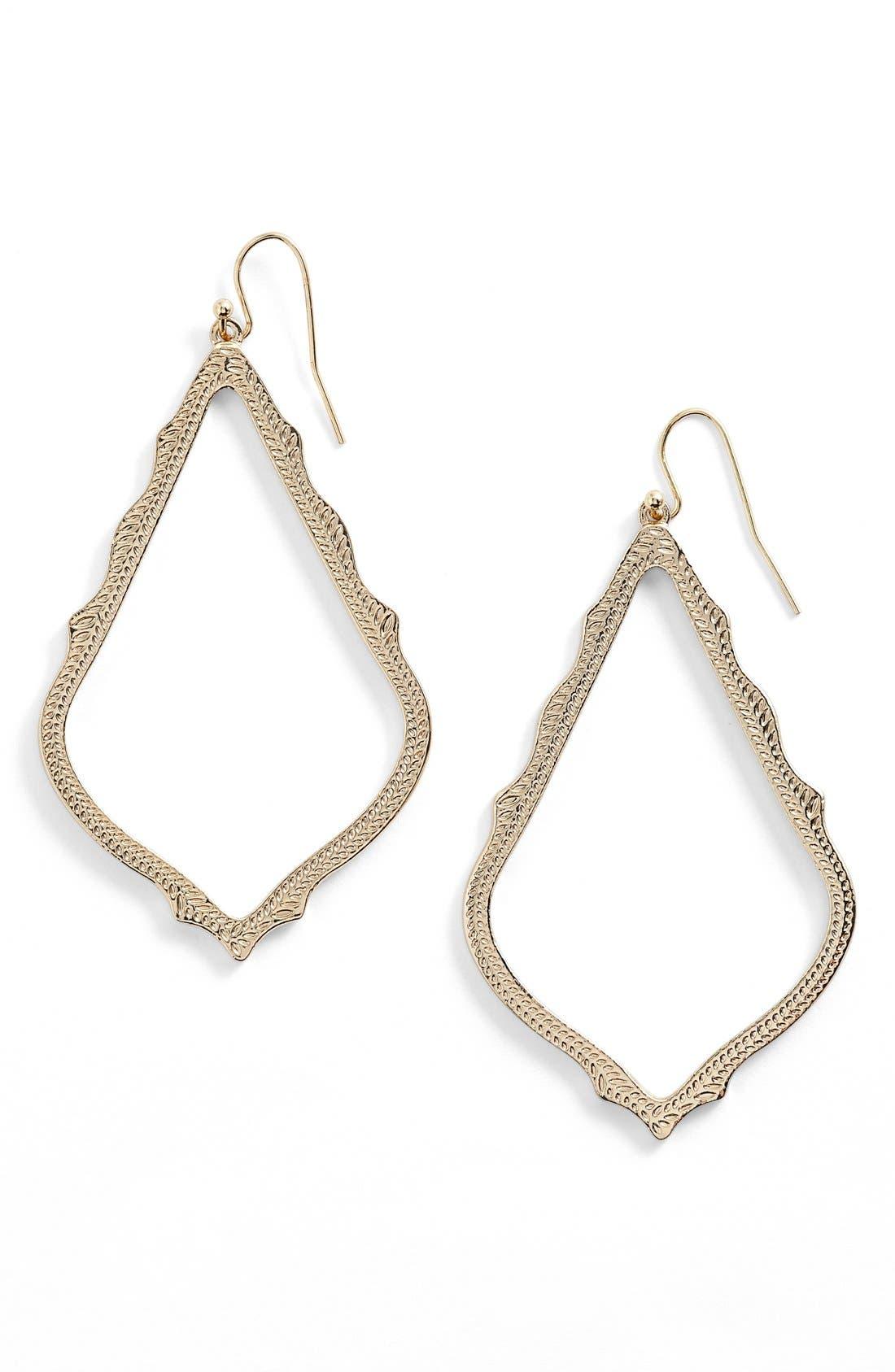 Main Image - Kendra Scott 'Sophee' Textured Drop Earrings