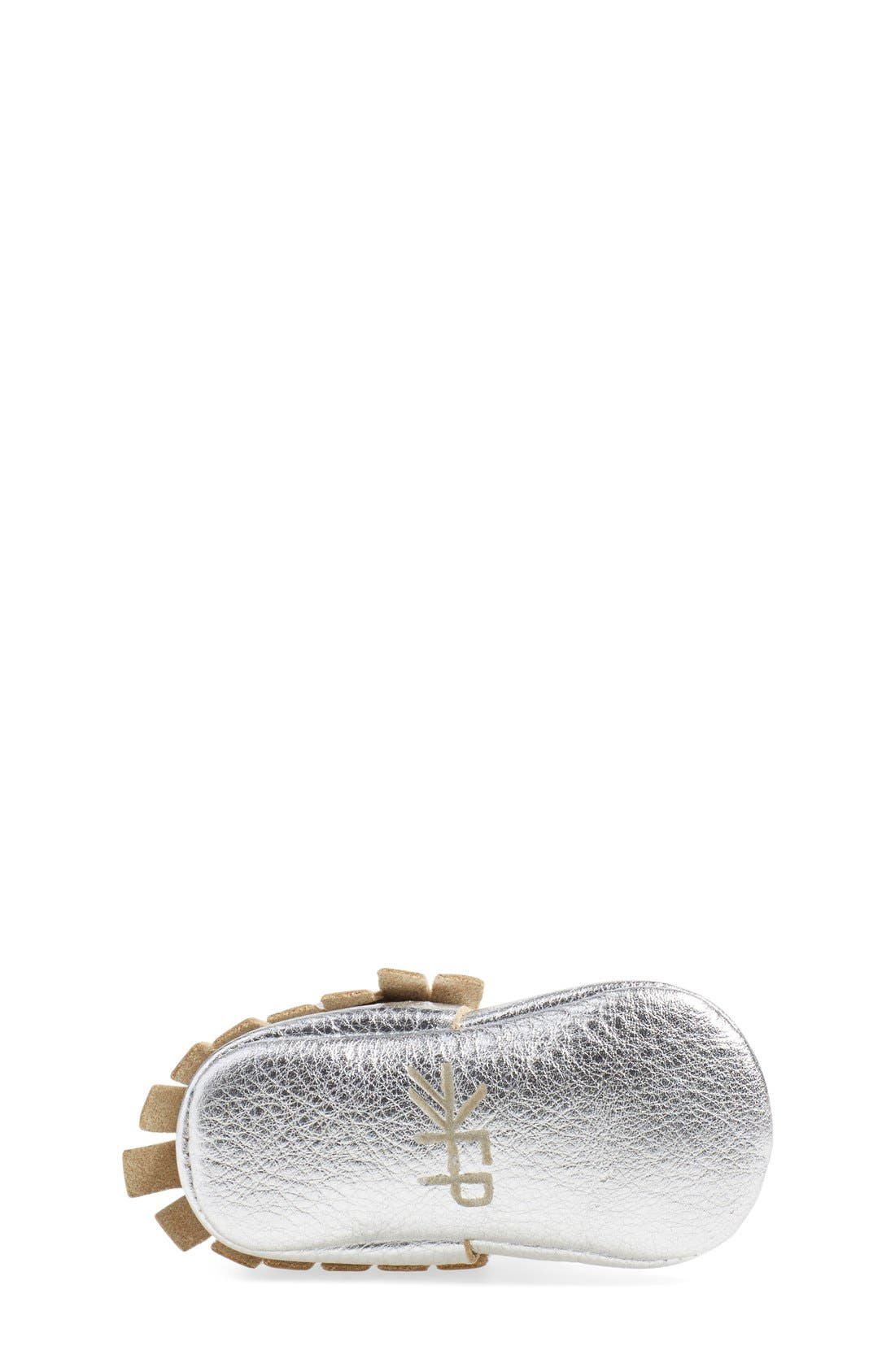 Alternate Image 8  - Freshly Picked Metallic Leather Moccasin (Baby & Walker)