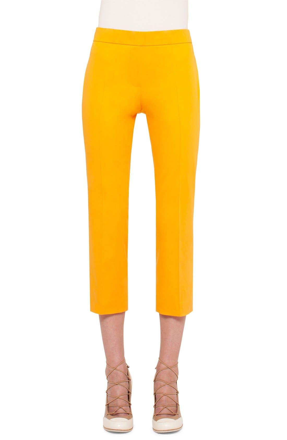 Main Image - Akris punto 'Francella' Stretch Cotton Crop Pants