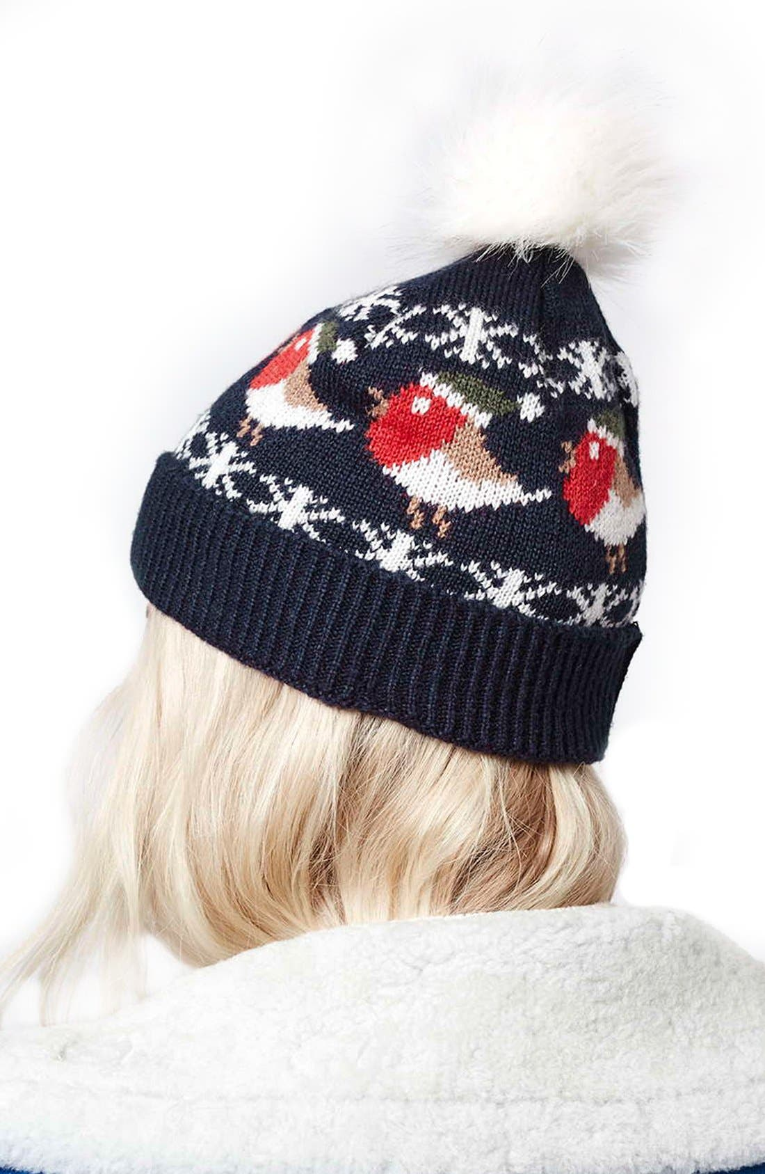 Alternate Image 2  - Topshop Robin Beanie with Faux Fur Pompom