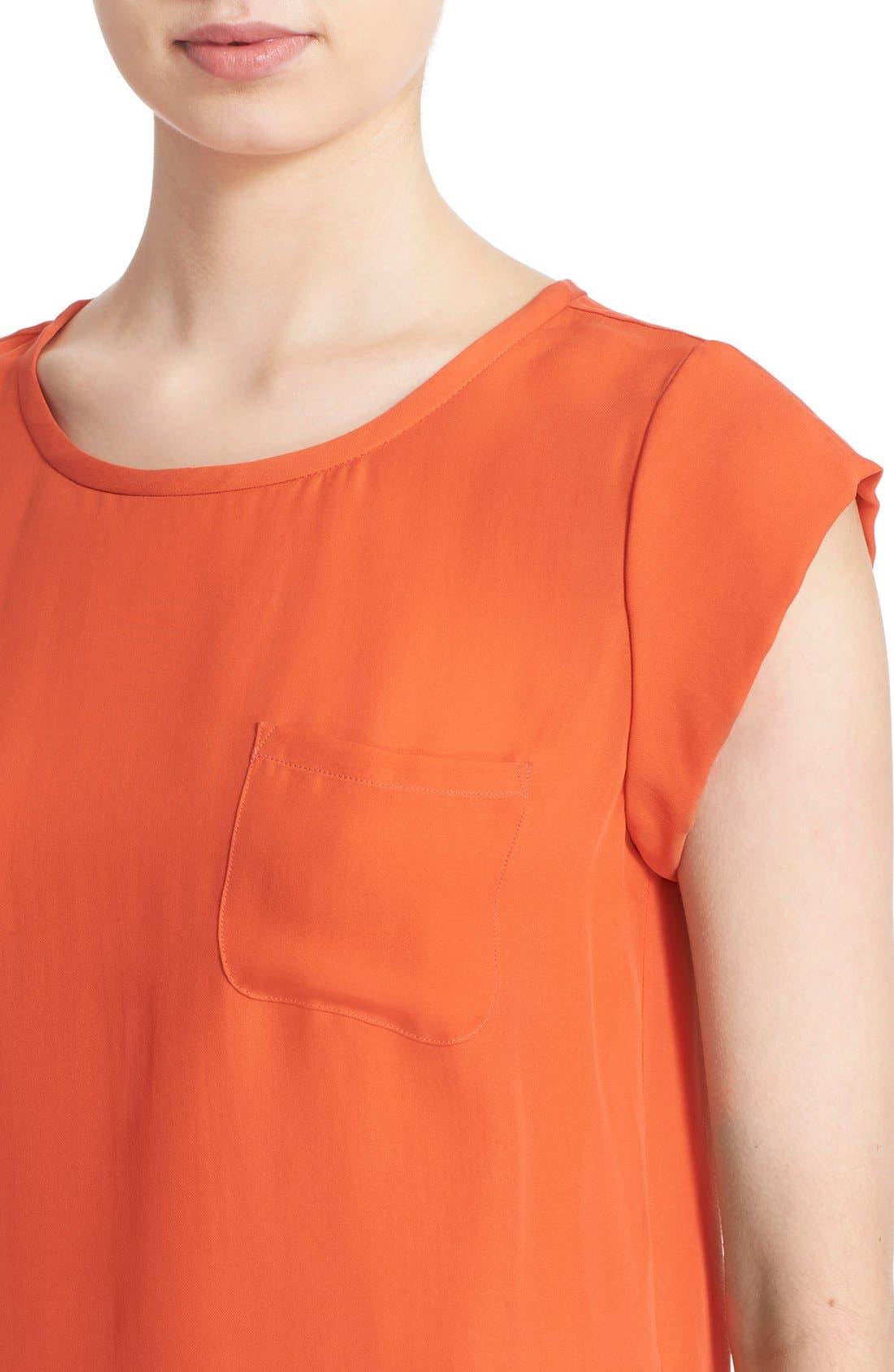 Alternate Image 4  - Joie 'Rancher' Silk Pocket Top
