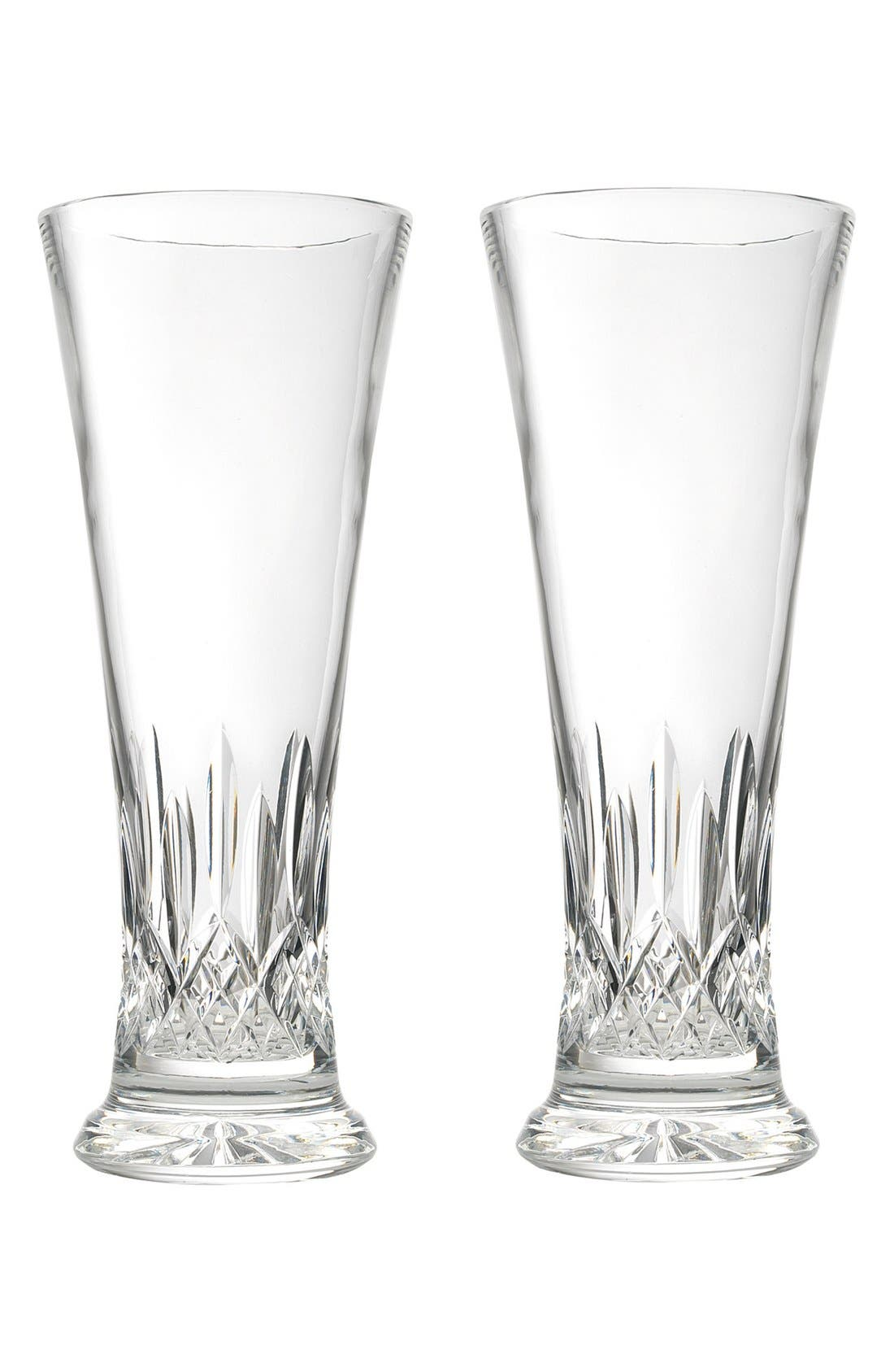 WATERFORD 'Lismore' Lead Crystal Pilsner Glasses