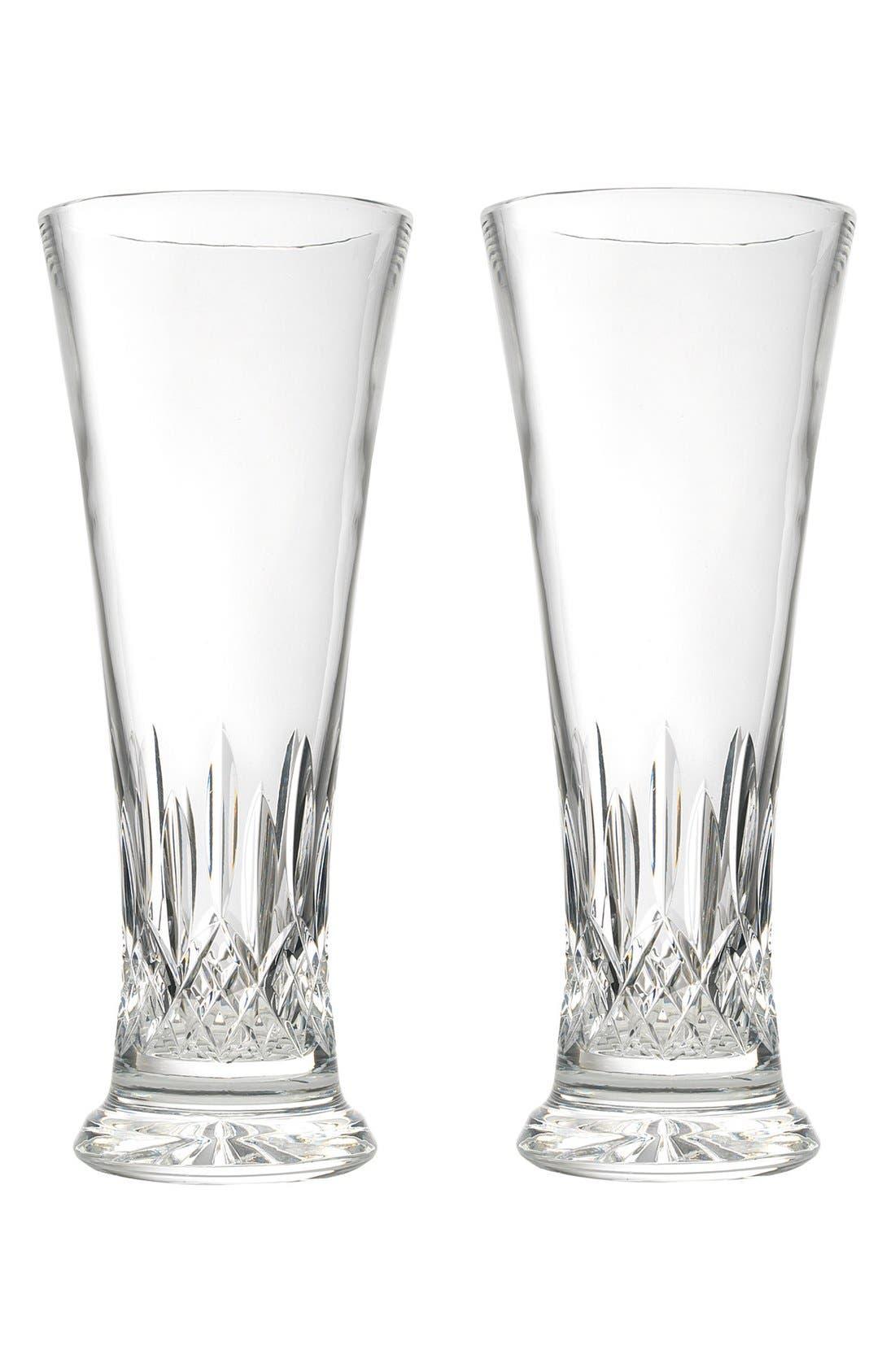 Waterford 'Lismore' Lead Crystal Pilsner Glasses (Set of 2)