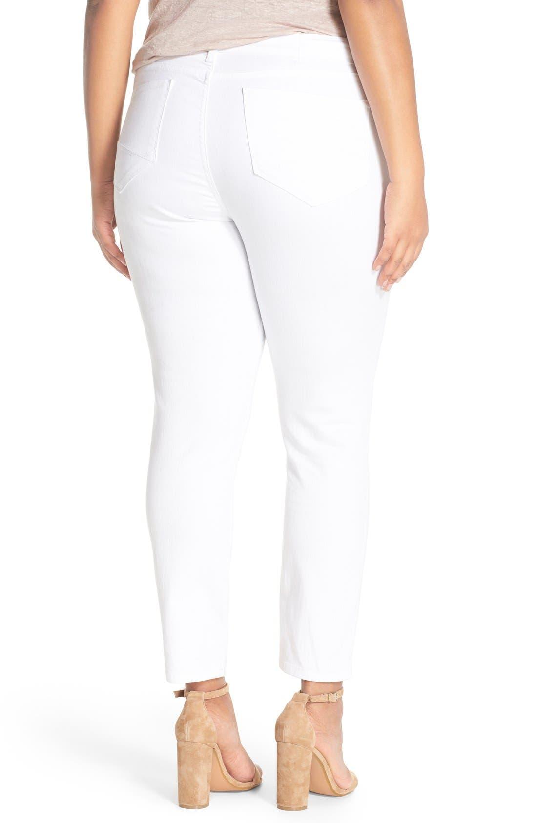 Alternate Image 2  - NYDJ 'Clarissa' Stretch Slim Ankle Jeans (Plus Size)