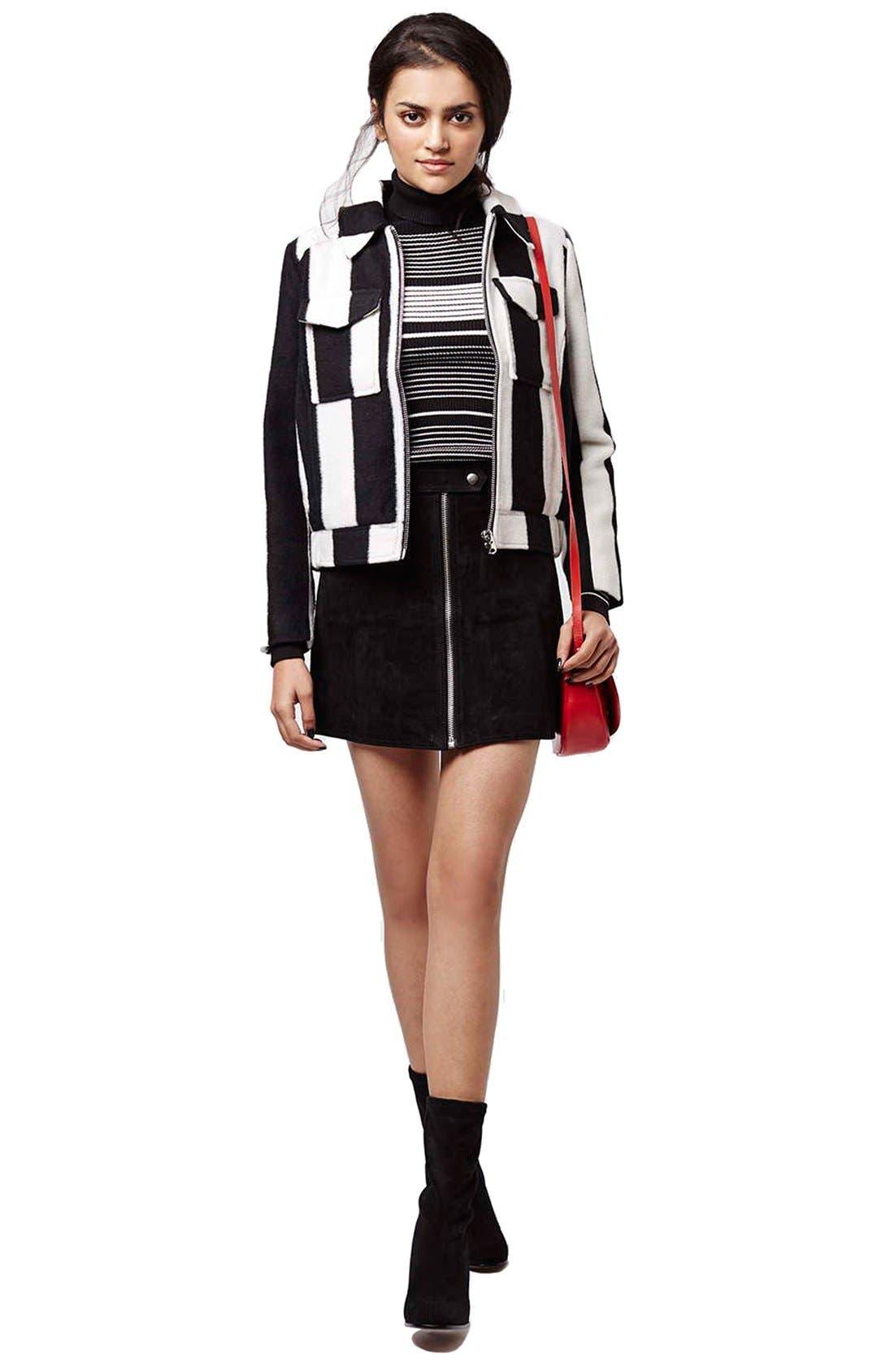 Alternate Image 2  - TopshopButton TabSuede Skirt