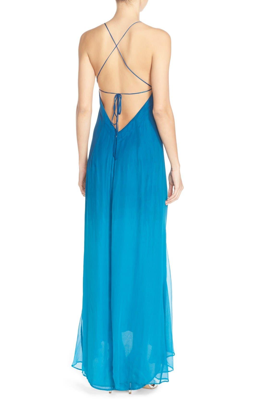 Alternate Image 2  - Charlie Jade Ombré Maxi Dress with High/Low Hem