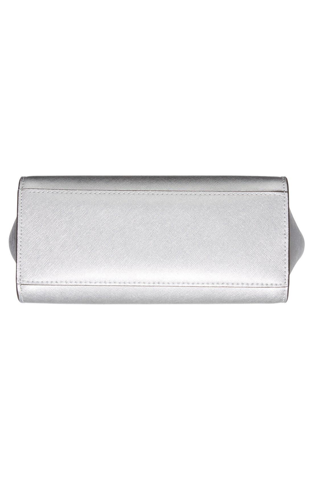 Alternate Image 6  - MICHAEL Michael Kors 'Medium Selma' Metallic Leather Crossbody Bag