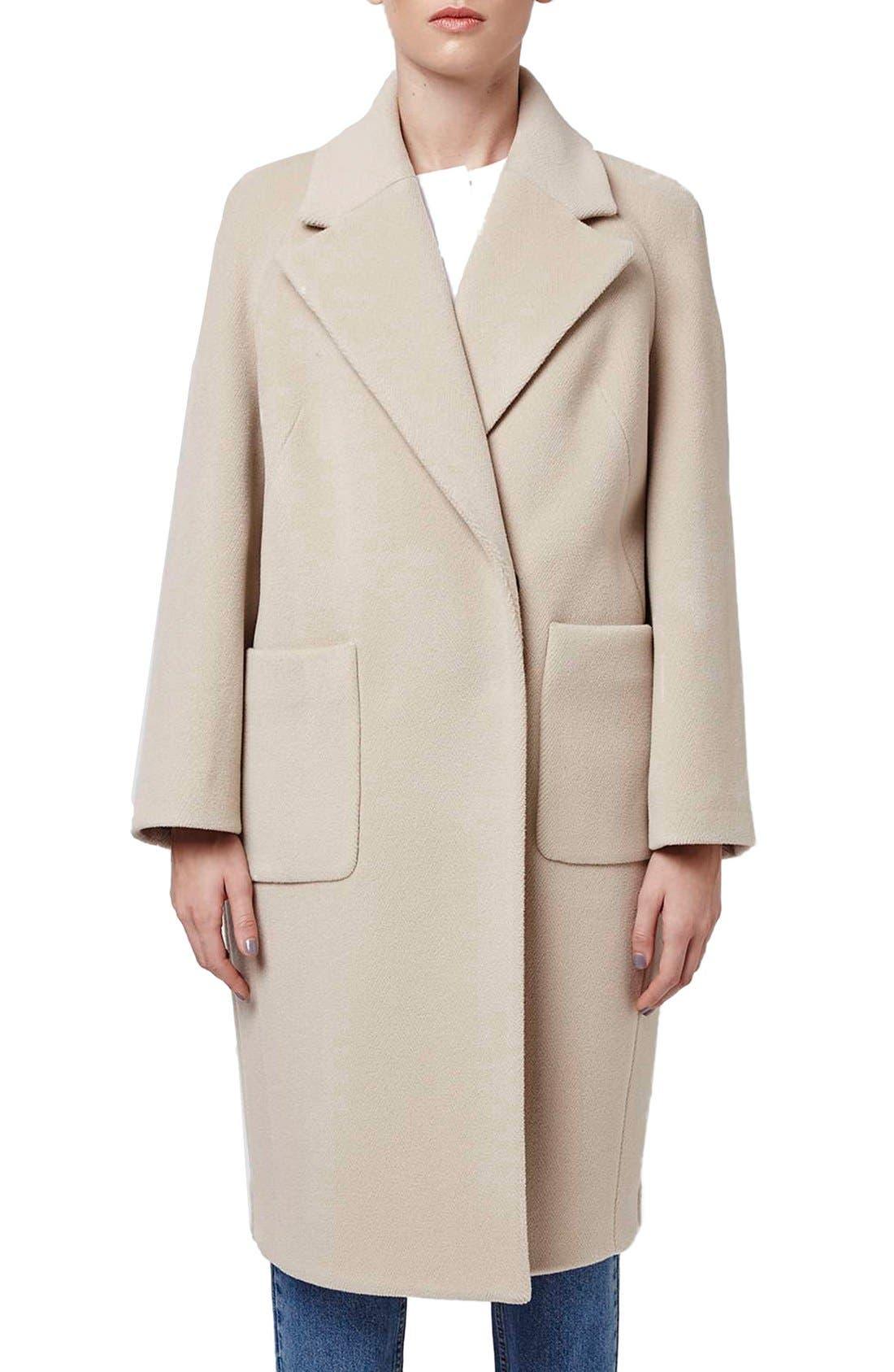 Alternate Image 1 Selected - Topshop Boutique Longline Wool Coat