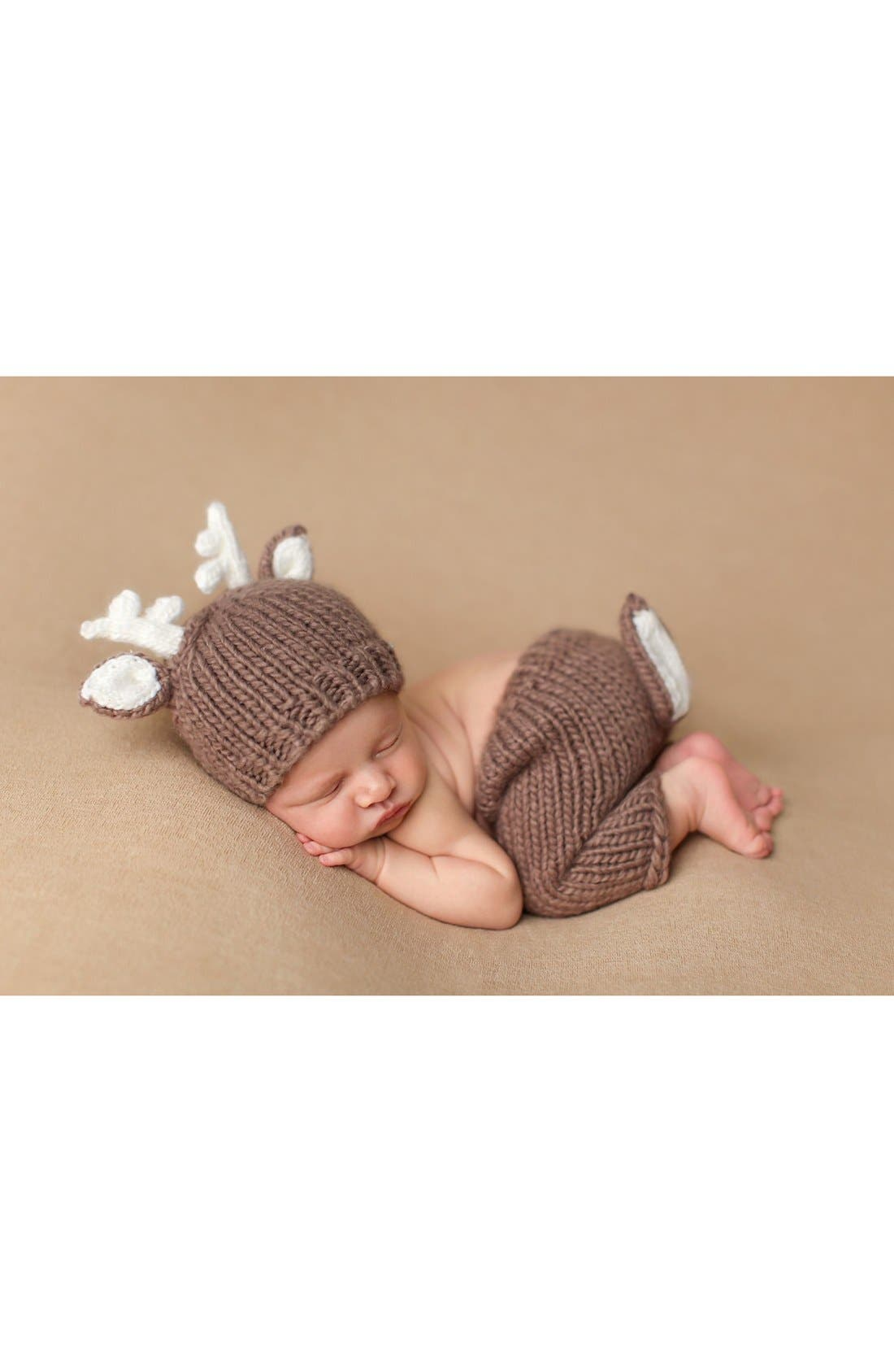 Bluberry Hill 'Deer' Knit Pants & Hat (Baby)