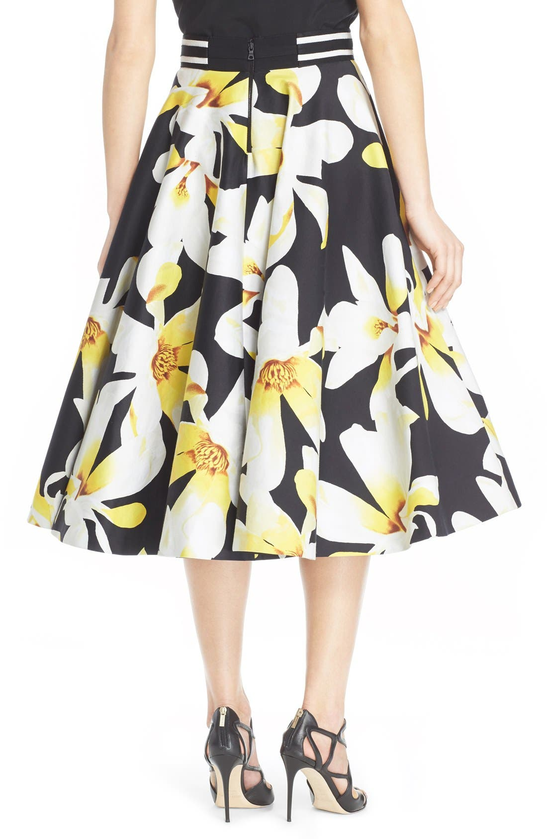 Alternate Image 3  - Alice + Olivia 'Dianna' Floral Print Circle Skirt