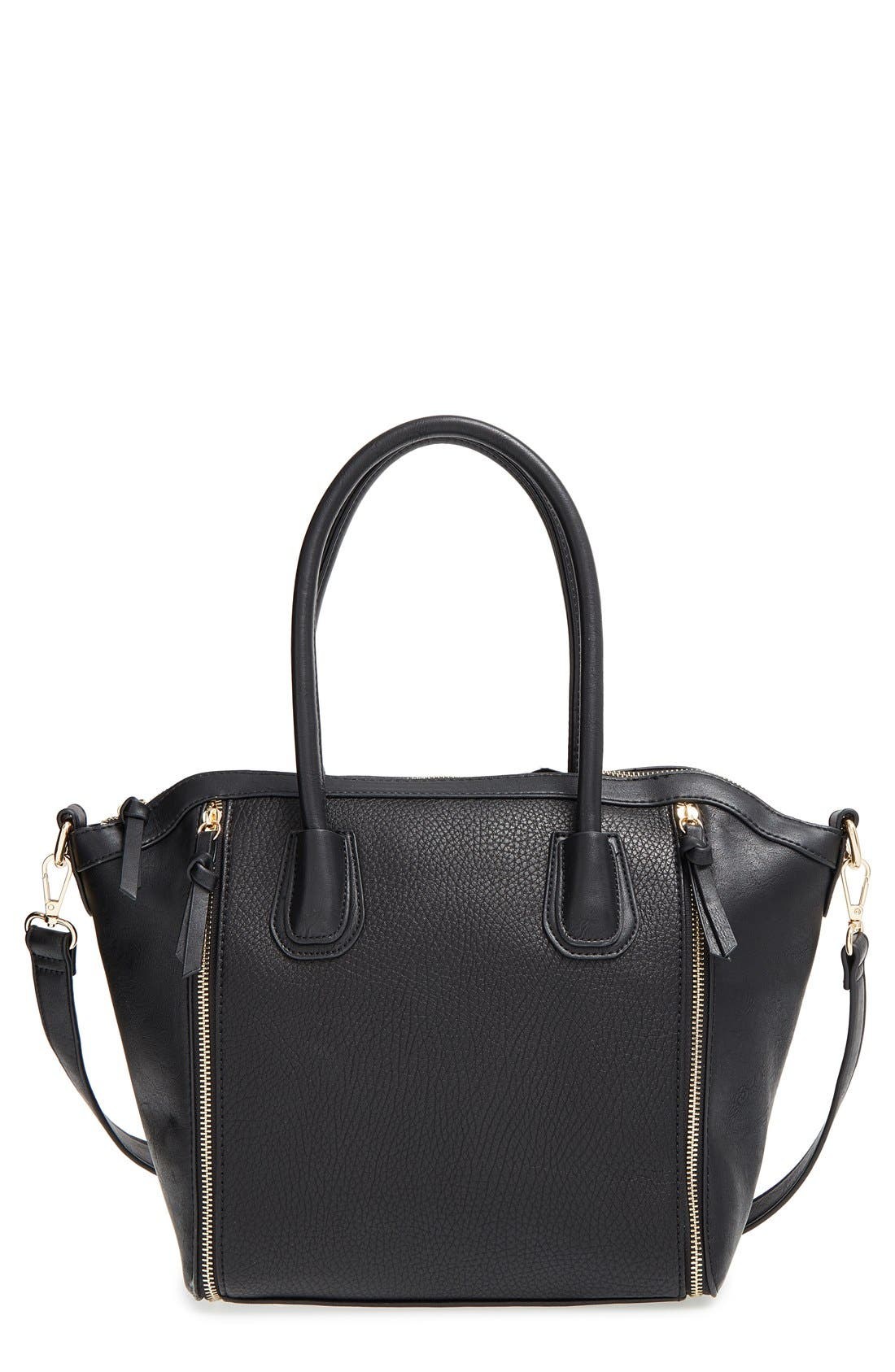 Main Image - Sole Society 'Kaylen' Faux Leather Crossbody Satchel