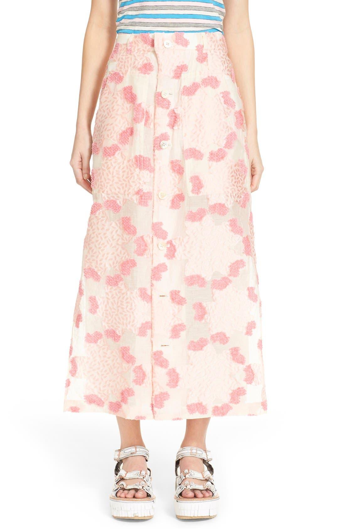 Alternate Image 1  - Julien David Fil Coupé Floral Jacquard Skirt